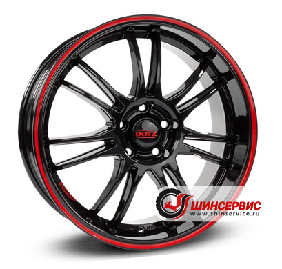 Dotz Shift pinstripe red 17 / 7.0J PCD 5x100 ET 38 ЦО 60.1